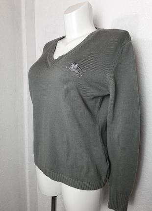 Хлопковый свитер burberry big logo
