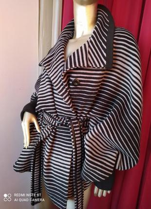 🦓🦓🦓шерстяное шикарное стильное тёплое пальтишко с широкими трендовыми рукавами collection1 фото