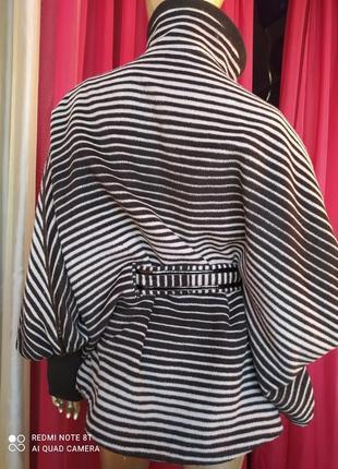 🦓🦓🦓шерстяное шикарное стильное тёплое пальтишко с широкими трендовыми рукавами collection4 фото