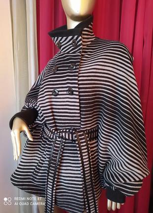 🦓🦓🦓шерстяное шикарное стильное тёплое пальтишко с широкими трендовыми рукавами collection2 фото
