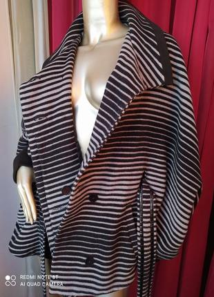 🦓🦓🦓шерстяное шикарное стильное тёплое пальтишко с широкими трендовыми рукавами collection7 фото