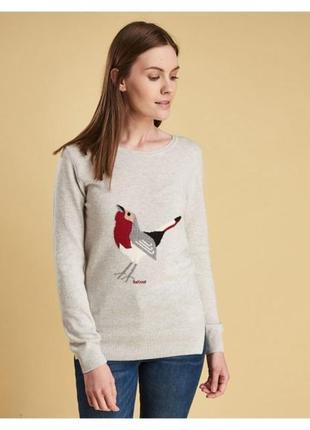 Кофта свитер barbour шерсть wool шерстяная вискозная