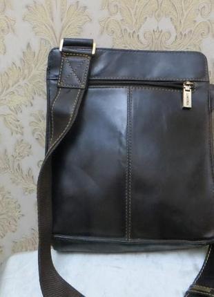 Мужская кожаная сумка visconti (оригинал )великобритания
