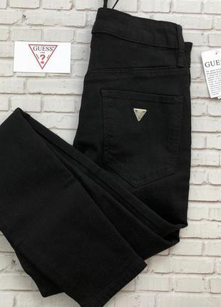 Чёрные джинсы ускачи скинни брюки с переплетом шнуровкой спереди, сбоку молния