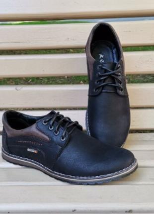 Мужские туфли экко натуральная кожа 40-45 р.