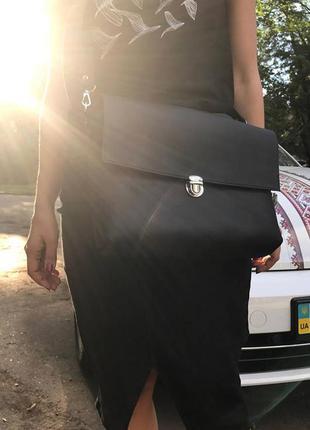 Кожаная сумка - портфель ручной работы