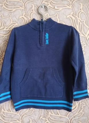 Хорошая кофта/ свитерок для мальчика tom tailor /рост 104/110 см