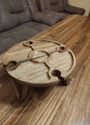 Винний столик дубовий