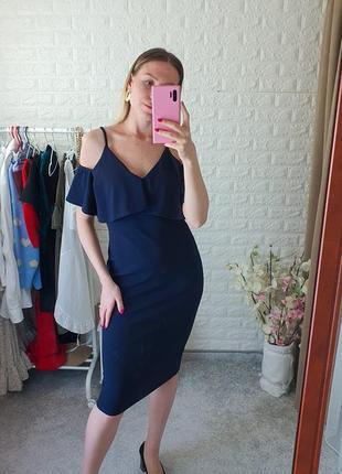 Платье темно синиее