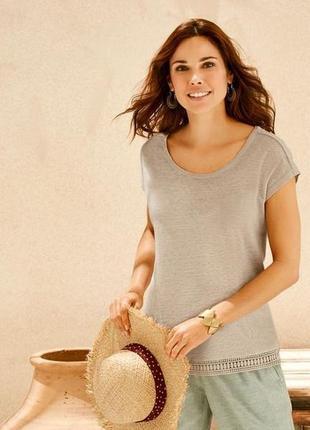 Красивая женская льняная футболка esmara