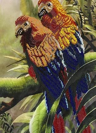 Картина бисером на атласе