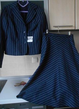 #винтажный стильный костюм с шерстью #