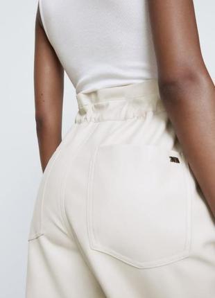 Кожаные брюки zara original spain2 фото