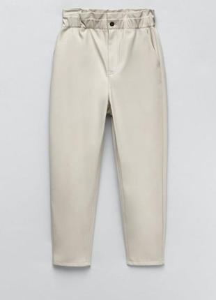 Кожаные брюки zara original spain4 фото