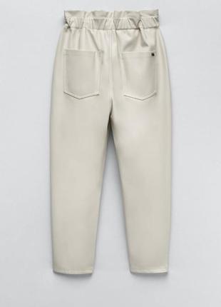 Кожаные брюки zara original spain5 фото