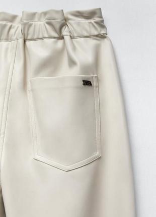 Кожаные брюки zara original spain6 фото