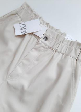Кожаные брюки zara original spain7 фото