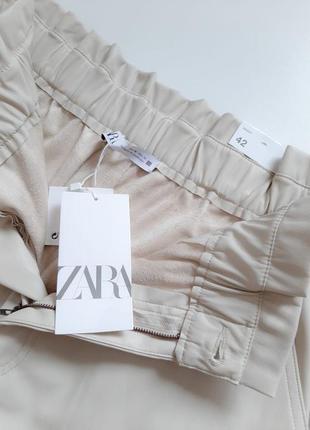 Кожаные брюки zara original spain8 фото