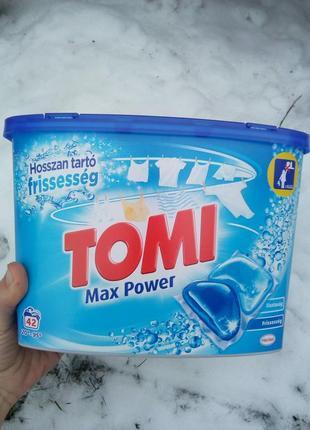 Гель-капсулы для стирки tomi max power для белого 42 шт