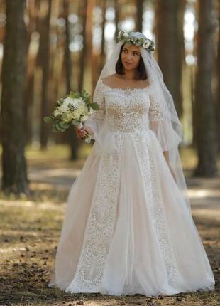 Свадебное платье бохо + фата
