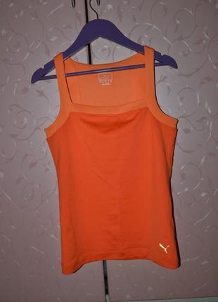 Р. s/м - 36/38 спортивная майка puma, оранжевая спортивная майка