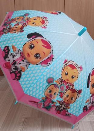 Детский зонт cry babies - голубая ручка