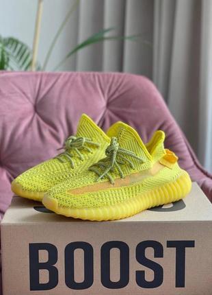 Женские кроссовки adidas yeezy boost 350 v2 (жёлтые)#адидас