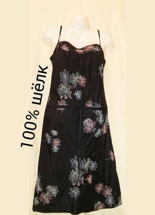 Платье laura ashley шелковое шовкова сукня шелк шёлк шовк шелковое с вышивкой