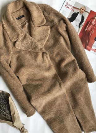 Шуба /пальто тедди оверсайз из эко меха mango.2 фото