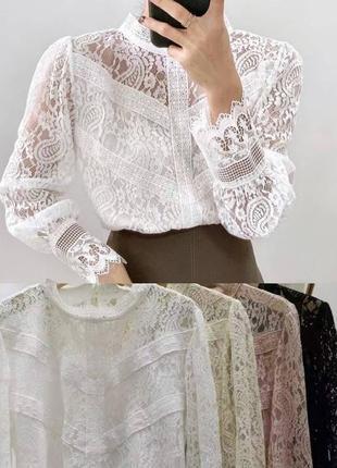 Блуза ажур1 фото