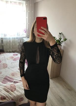 Нарядное чёрное платье / секси платье