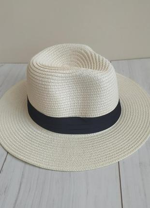 Летняя женская пляжная шляпа, соломенная шляпа канотье ковбойка, федора