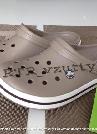 Сабо кроксы crocs crocband haki