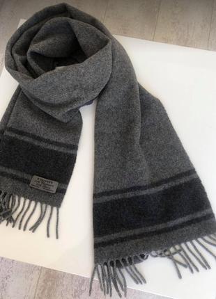 Очень теплый итальянский шарф кашемир шерсть