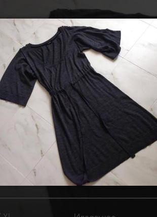 Платье из тонкой шерсти. наш 50 размер.