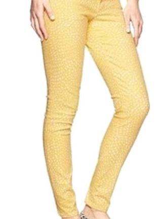 Яркие желтые джинсы gap1969 always skinny р.s/m