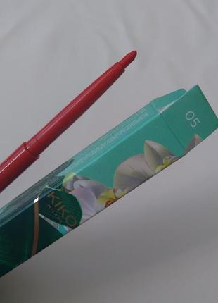 Водостойкий карандаш для губ kiko unexpected paradise waterproof lip liner 05
