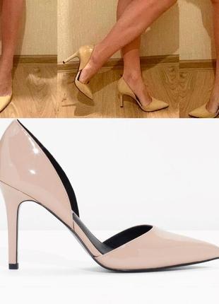 Нюдовые лодочки/туфли
