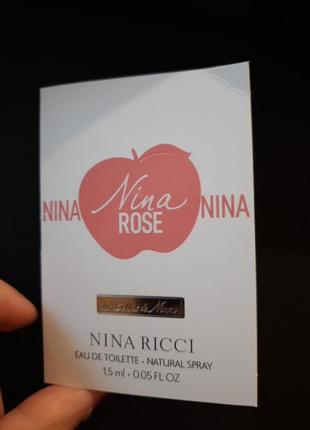 Пробник nina rose
