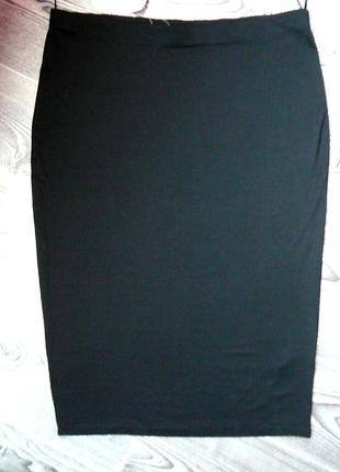 Турецкая хлопковая с эластаном новая летняя юбка 14 размера
