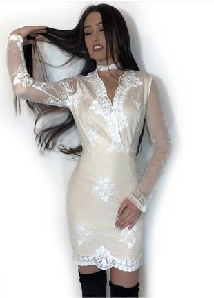 Нежное платье с вышивкой missguided