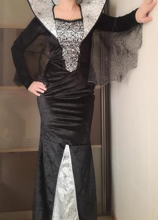 Карнавальный костюм королева вампиров платье на хэллоуин