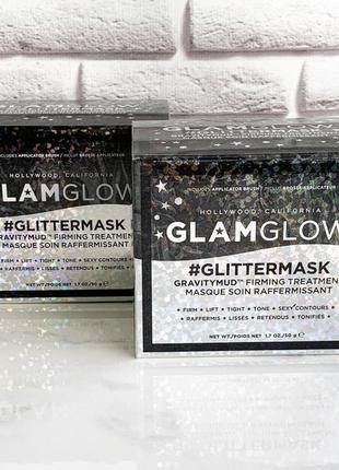 Маска подтягивающая контур лица glamglow gravitymud black glitter