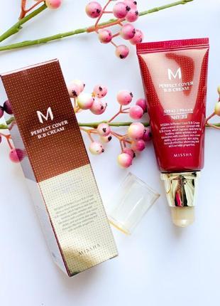 Бб крем missha m perfect cover bb cream spf42 50 мл тональный крем корейская косметика