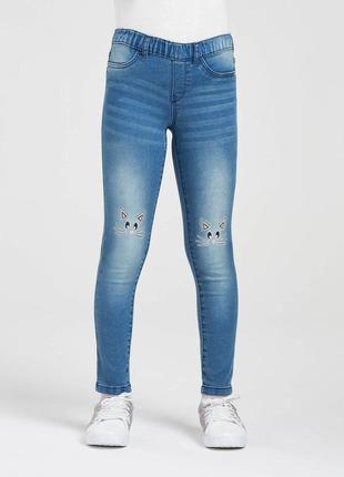 Классные джинсы, джеггинсы с мордашками от terranova