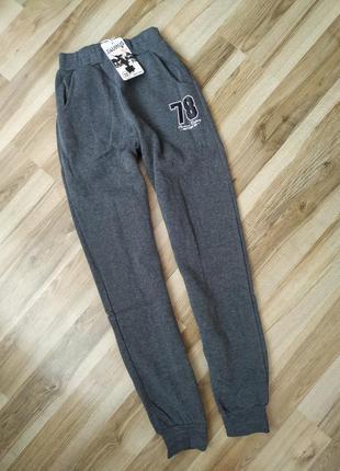 Детские спортивные штаны на флисе 134-164 для мальчиков, на флісі для хлопчика