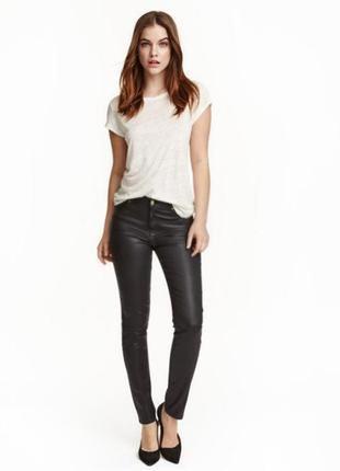 Брюки скинни джинсы с напылением