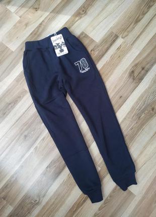Подростковые спортивные штаны для мальчика 134-164 на флисе с начёсом
