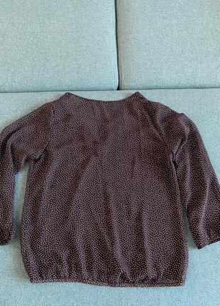 Летняя шифоновая блуза в горошек