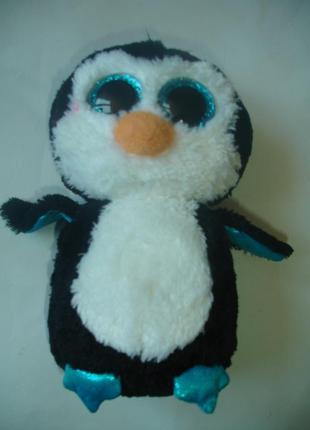 Фирменный глазастик пингвин мягкая игрушка